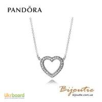 PANDORA подвеска на цепочке Любящее сердце 590534CZ-45 оригинал Пандора