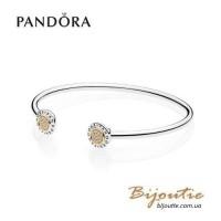 Pandora браслет MOMENTS серебряно-золотой 596274CZ