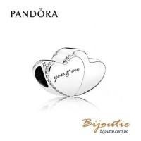 PANDORA шарм ― два сердца 796560CZ Оригинал