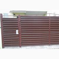 Ворота и калитки из профнастила с элементами ковки - «Плитарт»