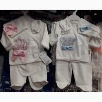 Детские комплекты на выписку для девочек и мальчиков, Турция, интерлок