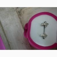 Продам Серебряные серьги кресты-пусеты | крестики