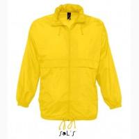 Ветровка непромокаемая унисекс желтого цвета