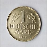 Монеты.Страна deutschland, 1 deutsche mark 1959 f и 1970 D