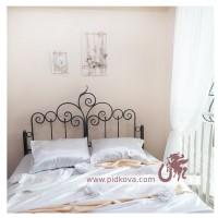 Кованая кровать с усиленными буковыми ламелями и ортопедическим матрасом в наличии