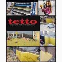 Пвх мембрана гідроізоляційна Rooftop Торговой марки Tetto желто-черна