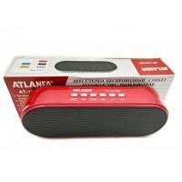 Портативная беспроводная Bluetooth колонка Atlanfa AT-1801BT Re с низкочастотной мембраной