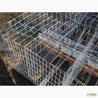 Клетки для кур несушек с оцинкованной сетки на 72-96 штуки
