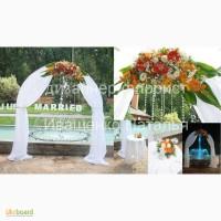Украшение свадебного зала цветами и декором
