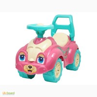 Автомобиль каталка для прогулок Технок 0823 Котик розовый