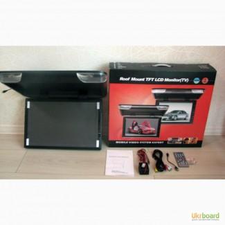 Автомобильный потолочный телевизор, монит. 13, 15, 17, 19, 22, с USB и SD