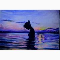 Картина автораНа закате-пастель А4