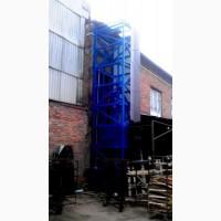 Подъёмник (лифт) шахтный снаружи здания г/п 500 кг