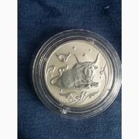 Продам монету 2 рубля ТЕЛЕЦ