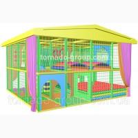 Лабиринт детский с крышей 5 на 5 уличный лабиринт