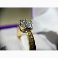 Кольцо из комбинированного золота с бриллиантами 0.40 карата