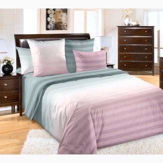 Туманное утро розовое, постельное белье перкаль (100% хлопок)