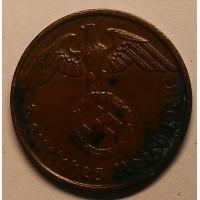 Германия 2 пфеннига 1938 J год