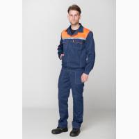 Костюм рабочий Легионер, синий с оранжевой кокеткой