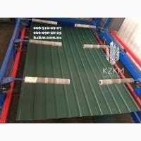 Матовый профнастил купить зеленый RAL 6005, темно-зеленого цвета забор, ворота