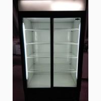 Витринный холодильный двухдверный шкаф б/у готов к продаже. Доставка к двери