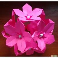 Цветочный шар из бумаги для декорирования помещений