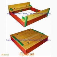 Детская песочница с крышкой и скамейками Низкая цена Цветная