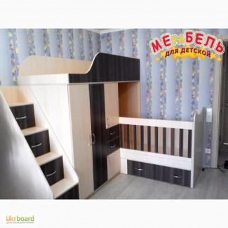 Детская двухъярусная кровать-трансформер