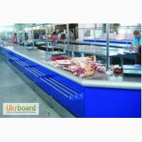 Холодильные прилавки для мяса. Торговый прилавок-стол мясной на рынок