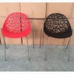 Пластиковый стул Миа красный черный белый