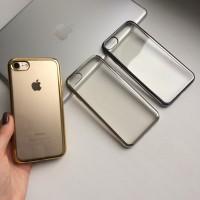 Силиконовый чехол с цветным ободком на iPhone 7/8