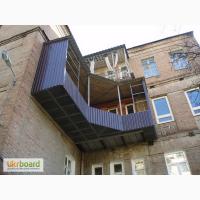 Балкон из профнастила