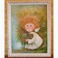 Картина на подарок Твой ангел дарит тебе цветы!