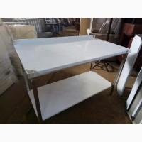 Стол кухонный из нержавеющей стали с полкой