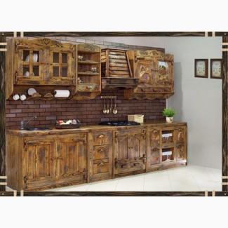 Деревянная кухонная мебель для кухни Мелисса