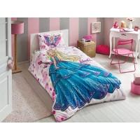 Детский и подростковый комплект tac barbie dream ранфорс / простынь без резинки