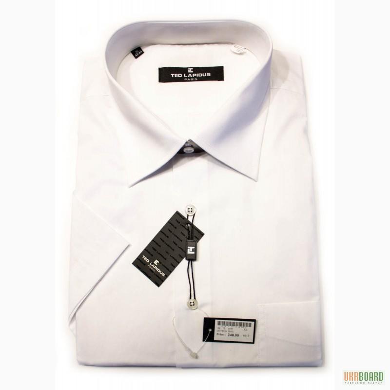 Продам купить белая мужская рубашка Ted Lapidus с коротким рукавом ... 0abaf5e304f0a