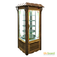 Кондитерские холодильные шкафы-витрины Украинский стиль.Новые.Гарантия 3 года