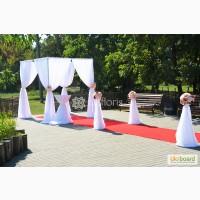 Свадебные украшения, декор зала и выездной церемонии.