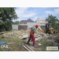 Демонтаж зданий, стен, сараев, стяжки