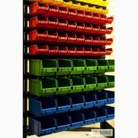 Стеллаж 1, 5м односторонний+контейнеры 78шт