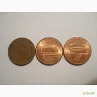 США-1 цент (3 разные)
