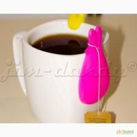 Подставка под чайные пакетики и чайную ложку Заяц