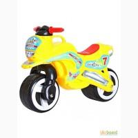 Каталка Мотоцикл Kinder Way 11-006 c ручкой для переноски.Разные цвета