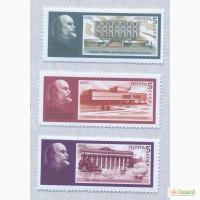 Почтовые марки. СССР. 1989. 3 марки 120 лет со дня рождения В. И. Ленина (1870 - 1924)