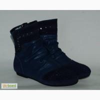 Демисезонные ботинки для девочек Шалунишка арт.5554 темно-синий