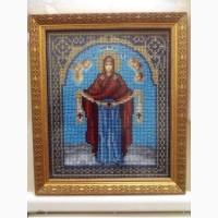 Продам икону вышитую бисером Покрова