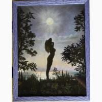 Картина автора Под луной-пастель, А3