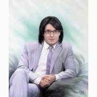 Заказать живописный портрет маслом. Доставка в Киев