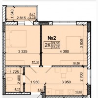 2-комн. в новострое ЖК Акварель-8 на Вильямса, старт продаж, 530$/м.кв
